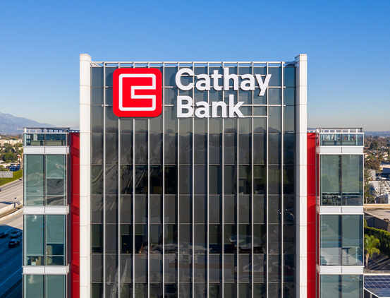Cathay Bank's headquarters in Los Angeles